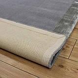 Комбинированые ковры из шерсти и вискозы серебряного цвета, фото 4