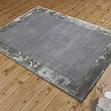 Комбинированые ковры из шерсти и вискозы серебряного цвета, фото 5