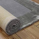 Комбинированые ковры из шерсти и вискозы серебряного цвета, фото 6