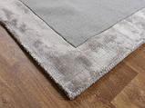 Комбинированые ковры из шерсти и вискозы серебряного цвета, фото 7