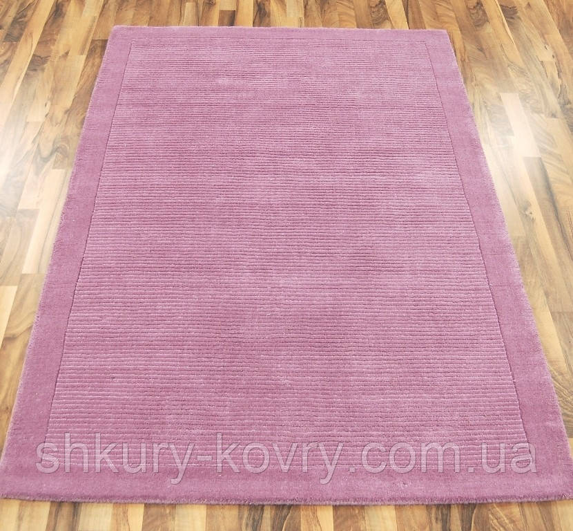 Однотонный шерстяной ковер из Индии