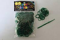 300 штук темно-зеленых резиночек для плетения Loom Bands