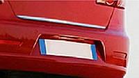 Хром накладка нижней кромки багажника Honda civic (2003 - 2007) (хонда цивик), нерж.