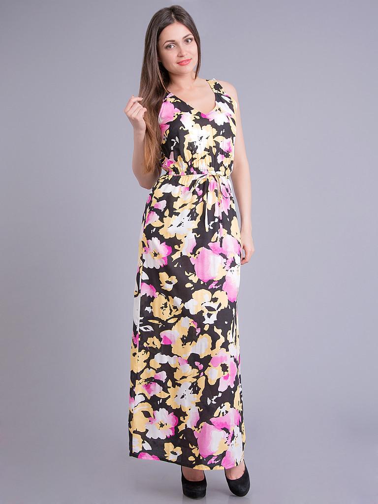 Сарафан женский летний бело-черно-розовый, 44-52 р-ры, фото 1