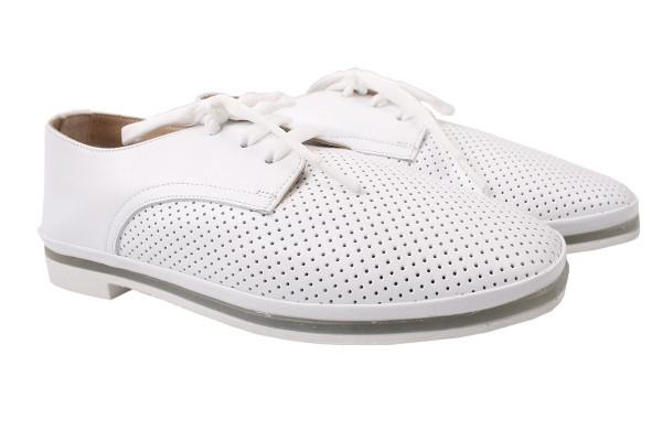 Туфли комфорт Aquamarin натуральная кожа, цвет белый