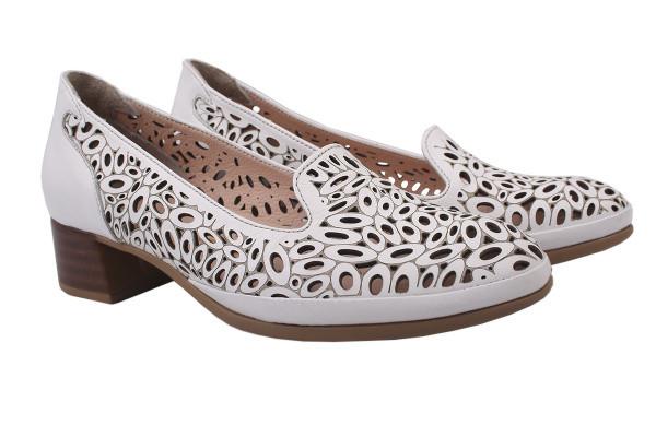 Туфли комфорт Euromoda натуральная кожа, цвет белый
