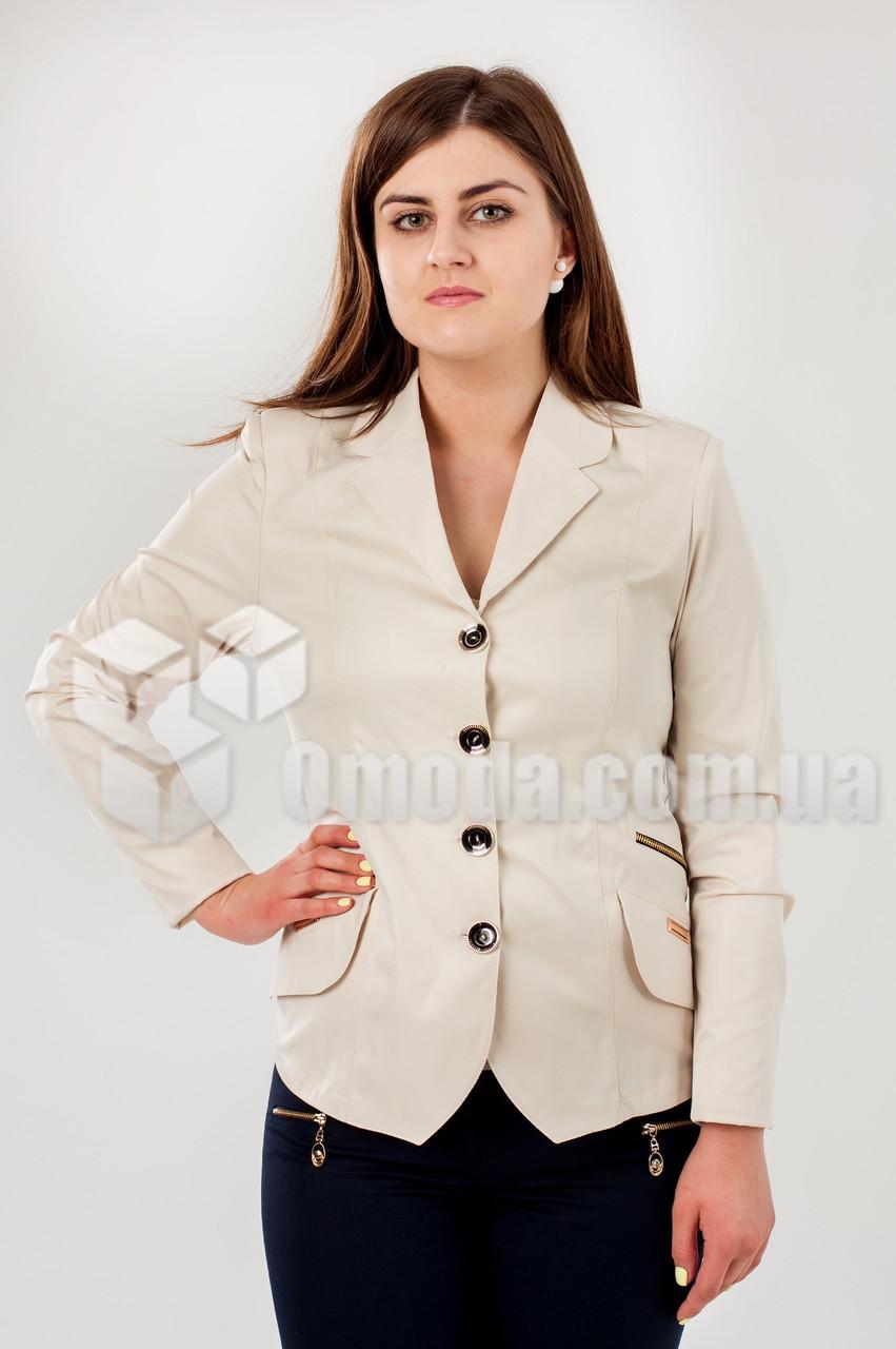 Приталенный пиджак женский Турина Беж