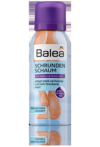 Balea воздушная пенка для увложнения ног Schrundenschaum 100мл
