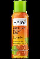 Balea Lovely Fuß- & Schuhdeo пенка с мятой и экстрактом апельсина 100мл