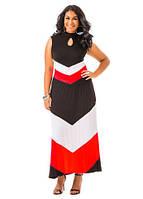 Макси сарафан для женщин с пышными формами