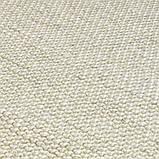 Безворсовый ковер из вискозы и шерсти слоновая кость, фото 2