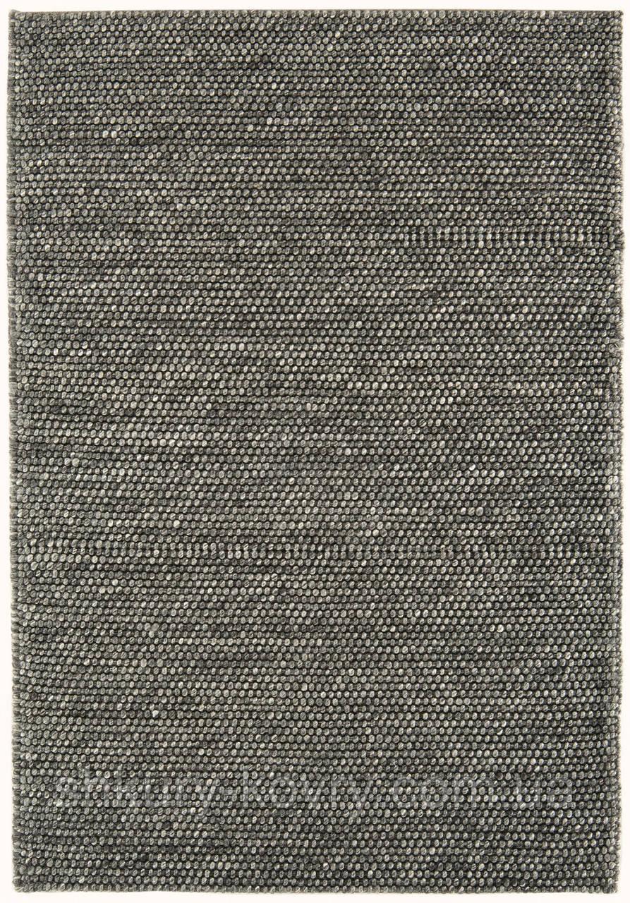 Однотонный дизайнерский плетенный вручную ковер без ворса