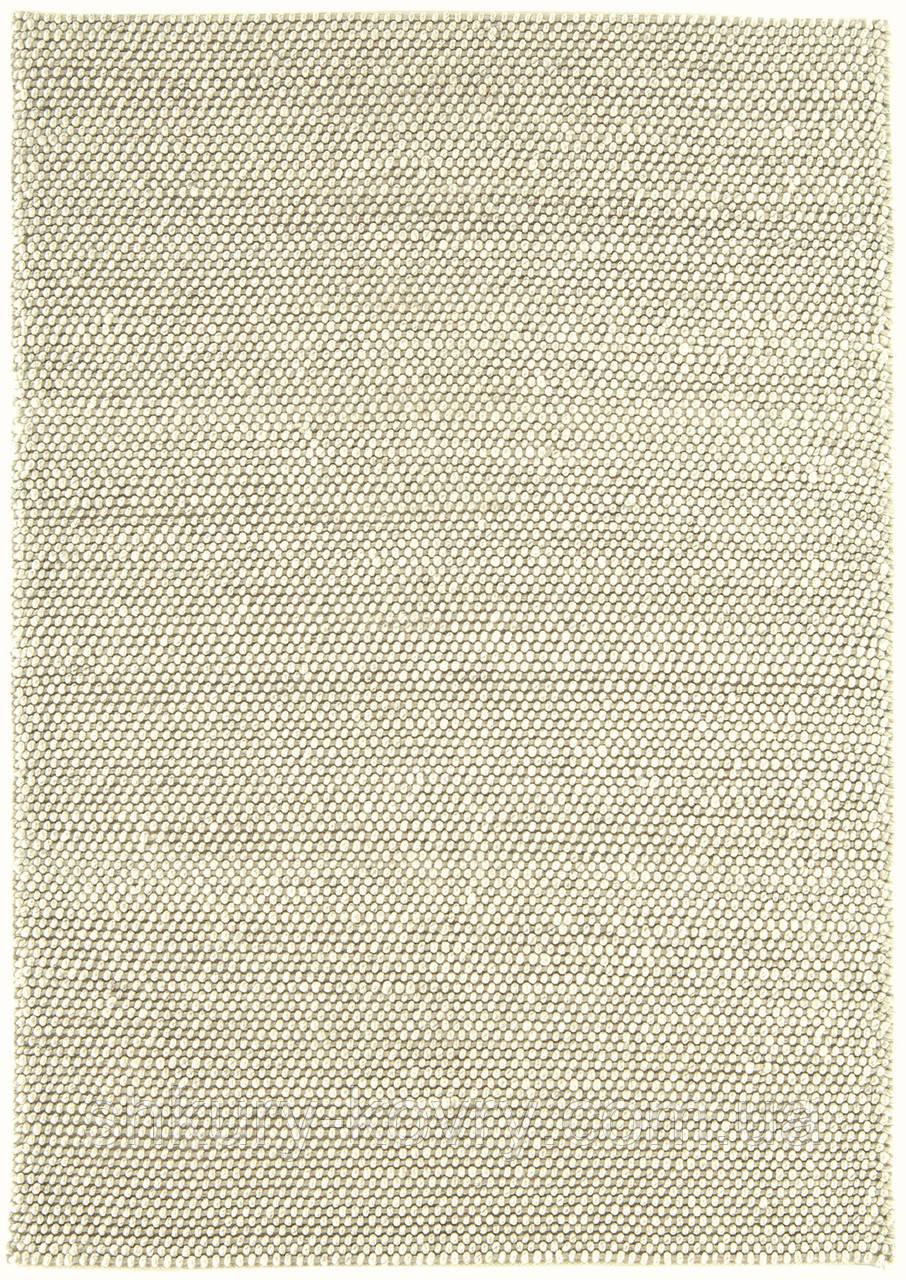 Безворсовый ковер из вискозы и шерсти слоновая кость