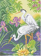 АМП-102. Набір алмазної мозаїки Граціозні чаплі.