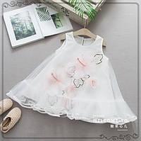 Платье Цветы белое 3195