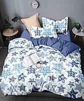 Сатиновое постельное бельё семейное евро (11938) хлопок, фото 1