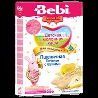 Каша молочная Bebi Premium (Беби Премиум) пшеничная печенье с грушей, 200 г, для полдника 1104074