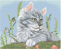 АМП-103. Набір алмазної мозаїки Сіре кошеня.