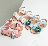 984be51aa5d350 Модні сандалі для дівчаток / Цветок сандалии для девочек, детские сандалии  для девочек