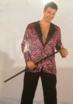 Пиджак  карнавальный черный с розовым