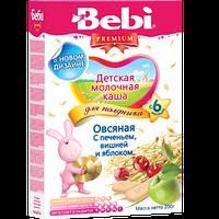 Молочная каша Bebi Premium (Беби Премиум)  овсяная с печеньем вишней и яблоком, 200 г, для полдника 1104085