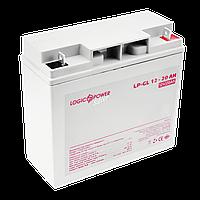 Акумулятор гелевий LogicPower LP-GL 12 - 20 AH SILVER, фото 1
