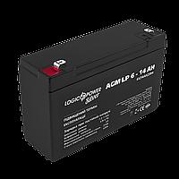 Акумулятор AGM LogicPower LP 6-14 AH SILVER, фото 1