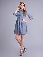 Платье под джинс, 48-56 размеры