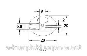 Профиль резиновый (уплотнитель стекла) НТ-10 (с замком)