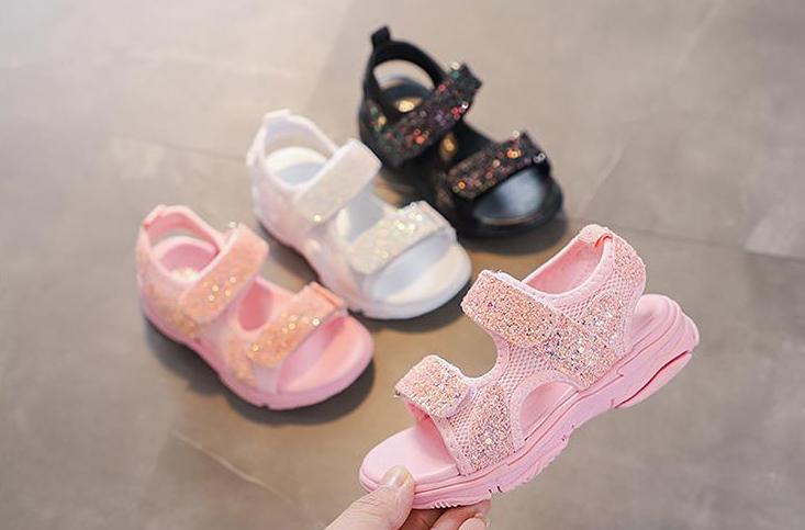 5bb706fc906fbc Спортивні сандалі для дівчаток / Летняя детская пляжная обувь; детская  мягкая нескользящая обувь на подошве