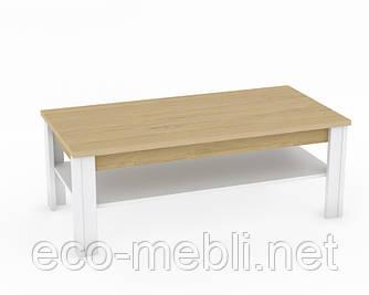 Журнальний стіл T у вітальню Valles Дуб Камяний / Білий Blonski