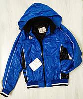 Подростковая ветровка для мальчика Moncler синяя размер 164  (14-15 лет) Турция