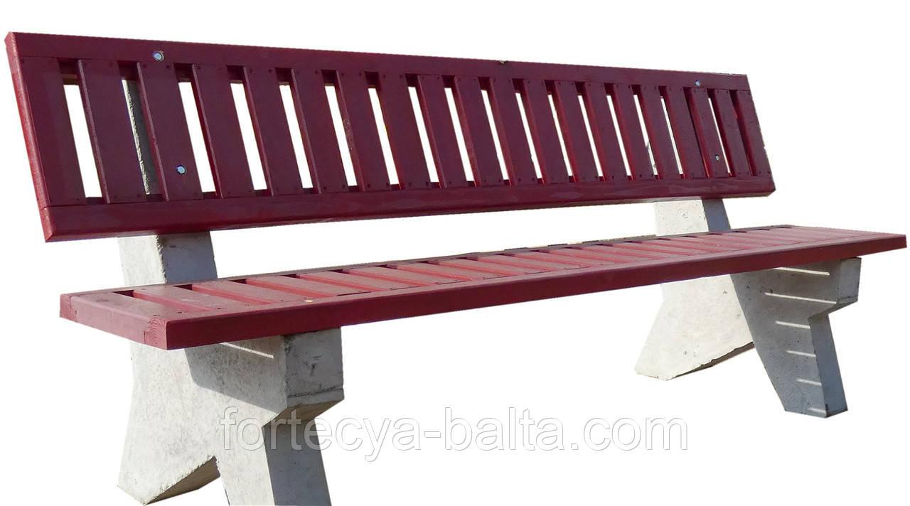 Лавка садовая Фортеця ЛБ-3 на бетонный ножках 2060*880*460 8640414