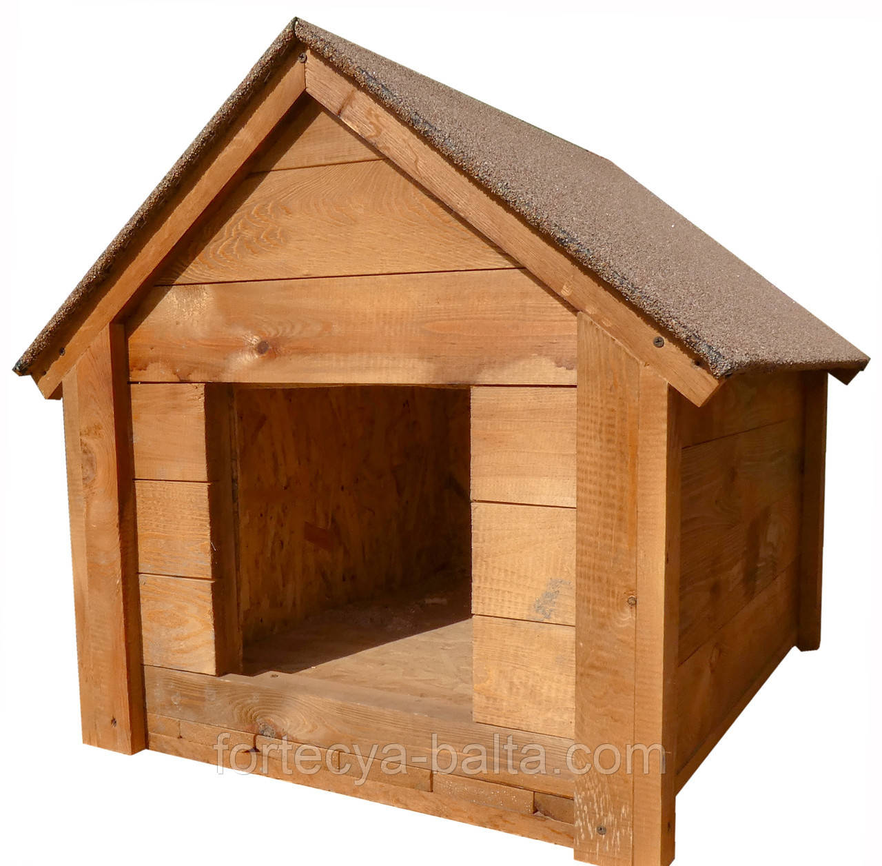 Будка для собаки Фортеця №2 средняя с утеплением 800*600*650 мм сосна 8640419
