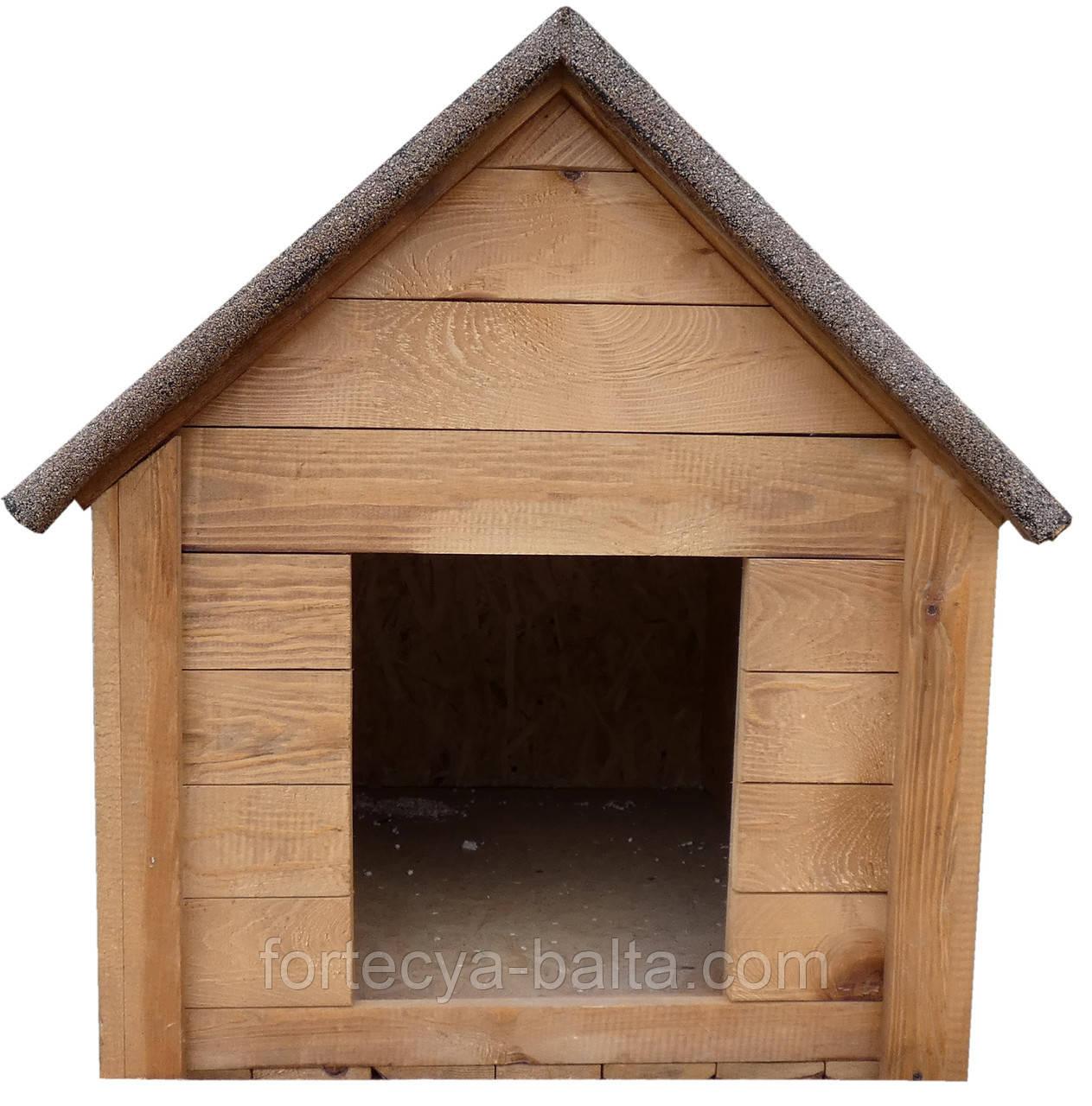 Будка для собаки Фортеця №1 средняя с утеплением 930*640*830 сосна 8640473