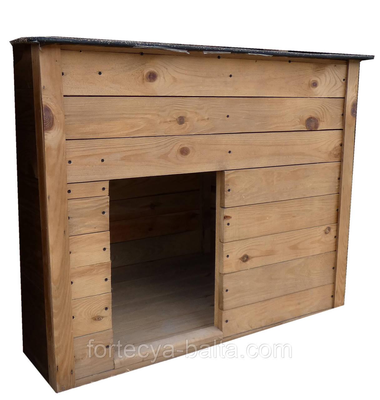 Будка для собаки Фортеця №4 большая 1100*900*800 сосна 8640424