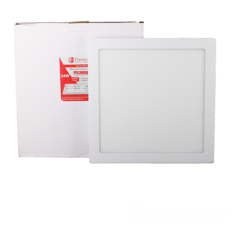 ElectroHouse LED панель квадратная 24вт 4100К 300х300мм 2160Lm