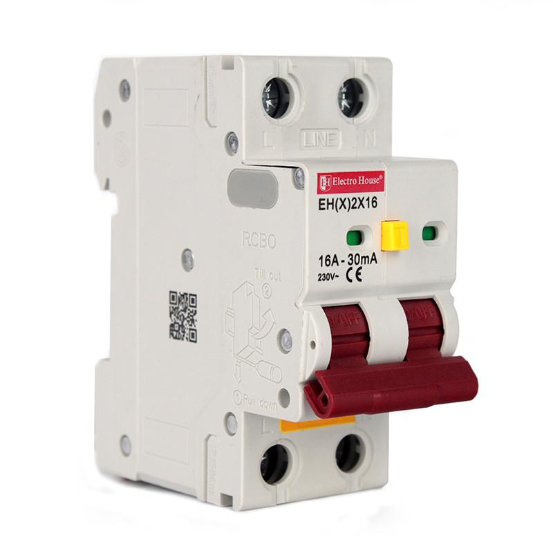 ElectroHouse ДИФ Автомат 16А 1P+N 4,5kA  EH(x) 2x16DIFF