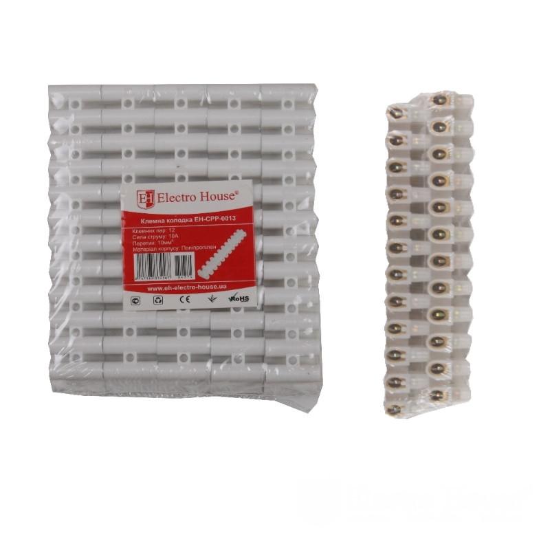 ElectroHouse Клеммная колодка 10A 10mm² Полипропилен