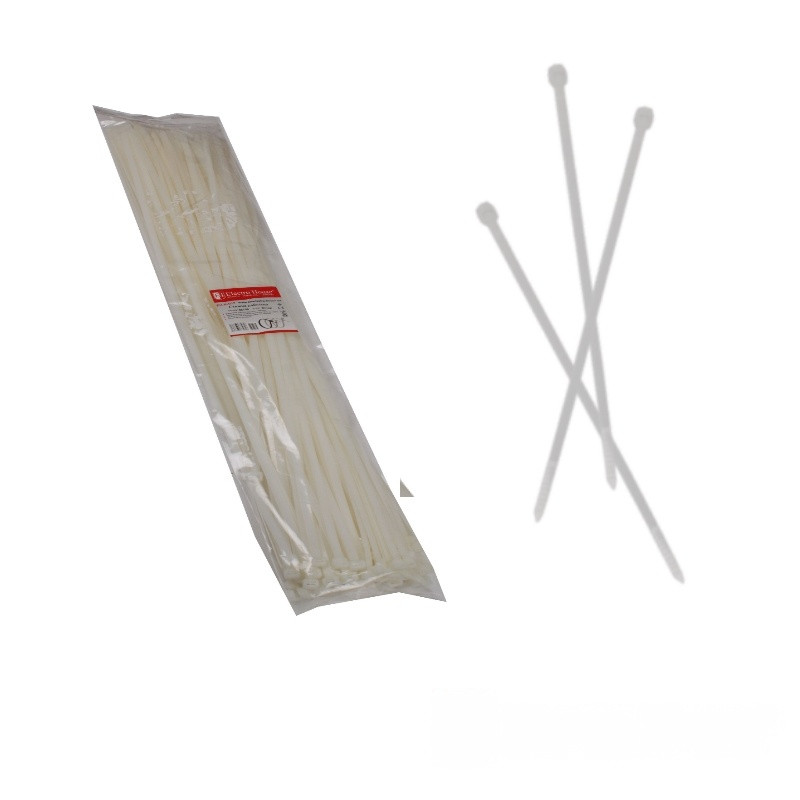 ElectroHouse Стяжка кабельная белая 8x750