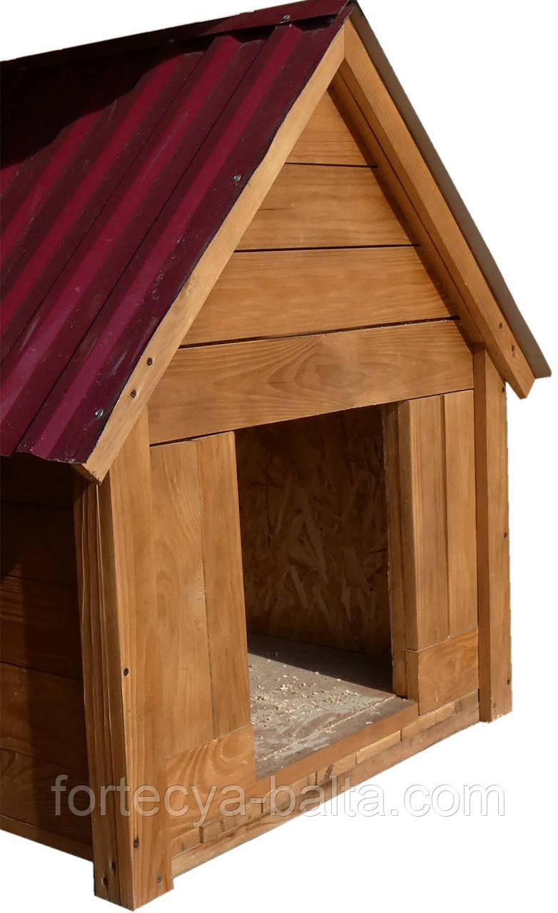 Будка для собаки Фортеця №5 большая с утеплённая 1200*800*1050 сосна 8640408