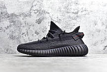 Женские кроссовки Adidas Yeezy Boost 350 V2 Static Black (Reflective) FU9007, Адидас Изи Буст 350, фото 3