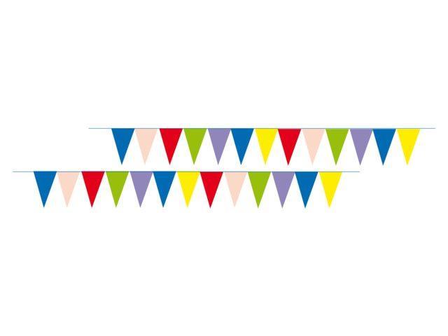 Різнокольорові декоративні прапори - 12 м