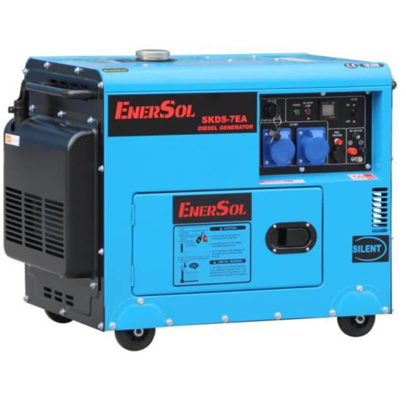 Дизельный однофазный генератор мощностью 6.5 кВА EnerSol SKDS-7EA(B)