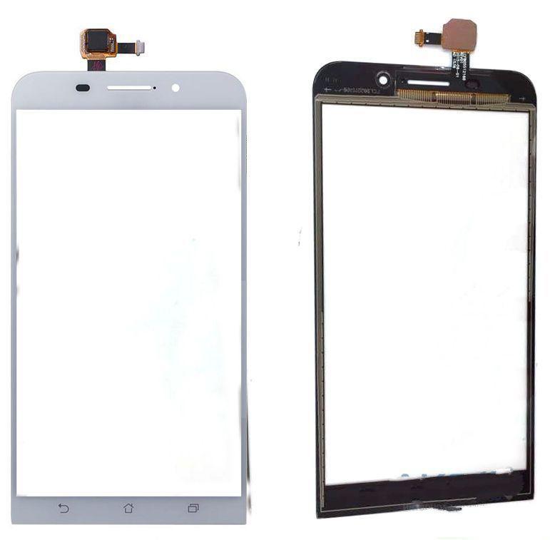 Тачскрин для Asus ZenFone Max (ZC550KL), белый Оригинал