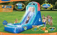 Надувний басейн з гіркою. Водяний ігровий майданчик