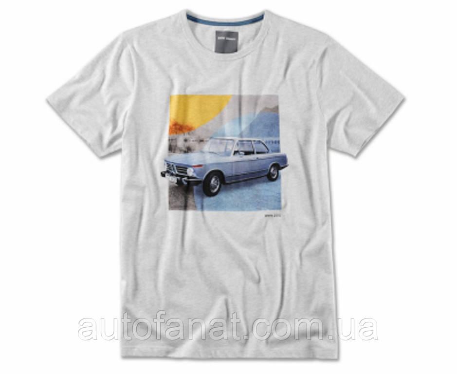 Оригинальная мужская футболка BMW 2002, Classic T-Shirt, Men, Grey Melange (80142463121)