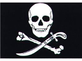 Пиратский флаг 30 х 45 см