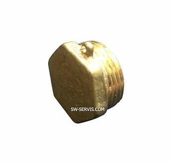 Латунная заглушка с наружной резьбой 3/8 дюйма