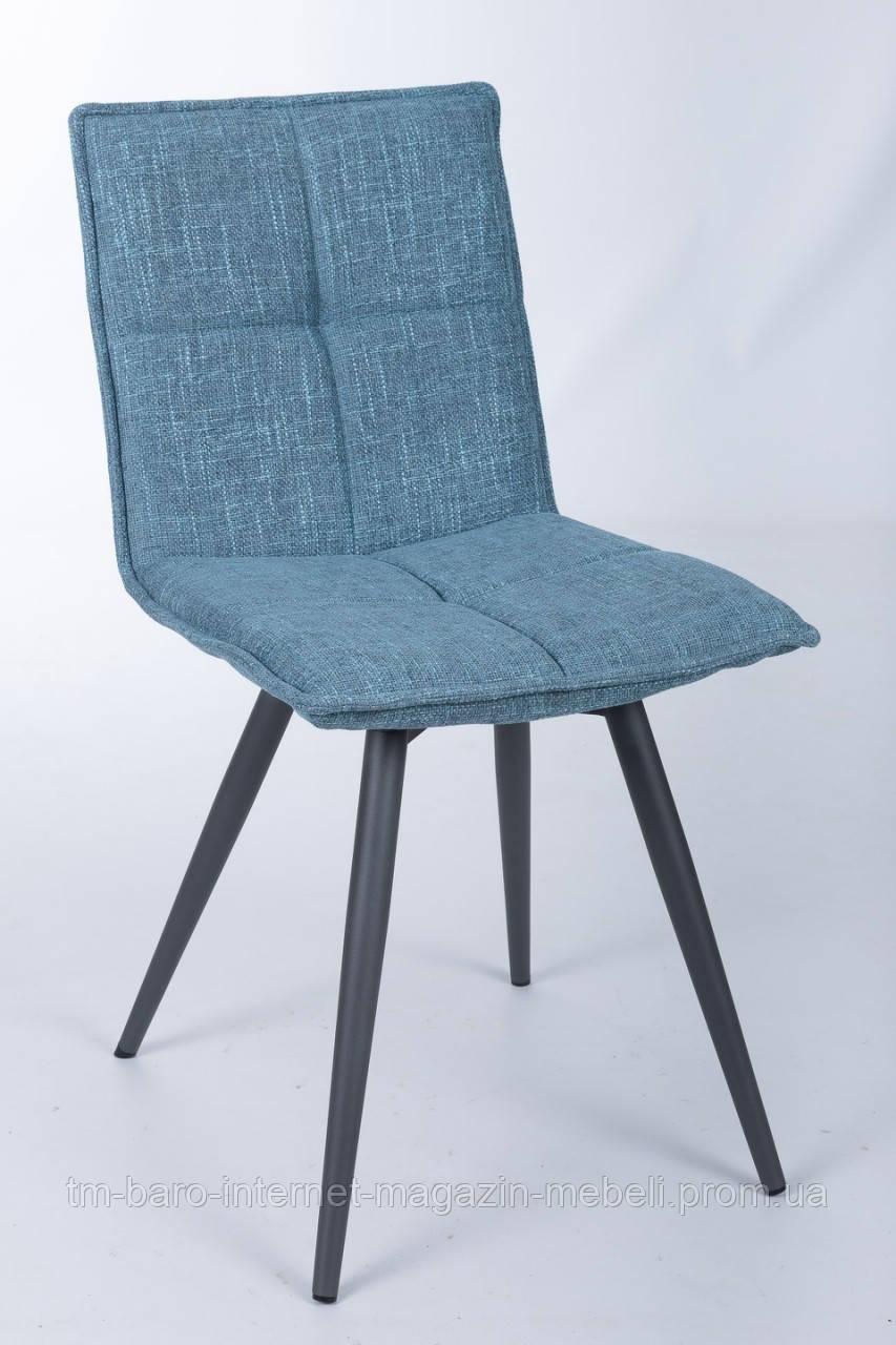 Стул поворотный MADRID (56*44*85 cm - текстиль)  рогожка темно-голубой, Nicolas